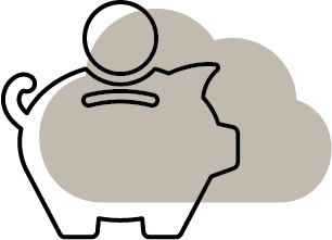 Cost Savings Cloudicon